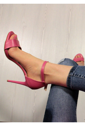 Shoepink Vicky Suni Deri Stiletto