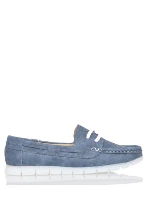 UK Polo Club P64919 Kadın Günlük Ayakkabı - Mavi Kot Desen