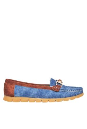 UK Polo Club P64921 Kadın Günlük Ayakkabı - Mavi Kot Desen