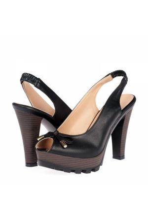 Yarımelma Kadın Platform Topuklu Sandalet