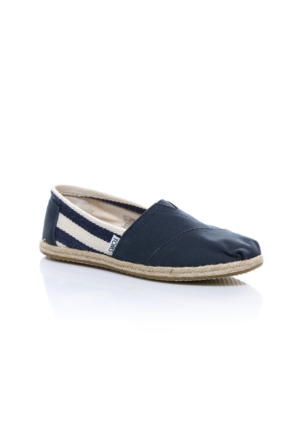 Toms Navy Stripe University Wm Clsc Alprg 10005419.Nvy