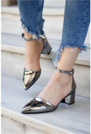İnce Topuk Kadın Aynalı Topuklu Ayakkabı 7Yaza0343705
