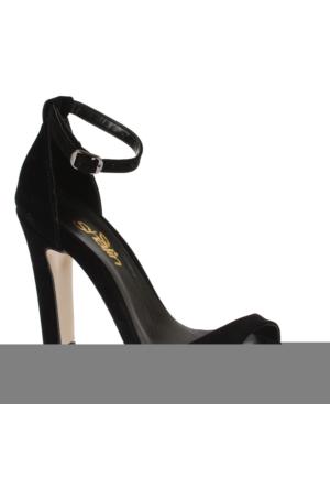 Shalin Tlg 15 Siyah Süet Kadın Ayakkabı