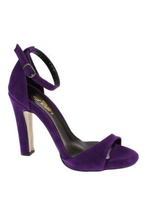 Shalin Tlg 15 Mor Süet Kadın Ayakkabı