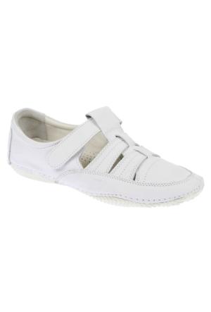 Shalin Est 38 Beyaz Hakiki Deri Ortopedik Kadın Ayakkabı