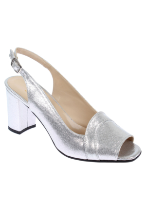 Shalin Alçak Ökçe Kadın Ayakkabı-Bşk 1030-Gümüş