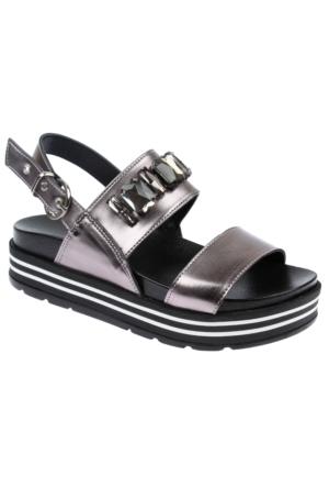 Shalin Szr 140 Platin Kadın Sandalet