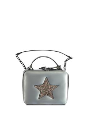 Marjin Ping Postacı Çanta Gümüş