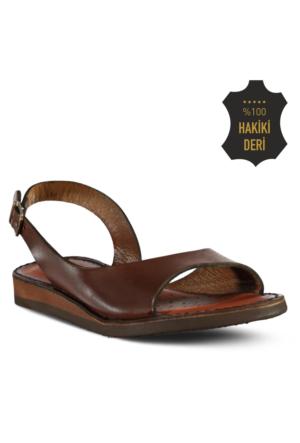 Marjin Gevo Düz Deri Sandalet Taba