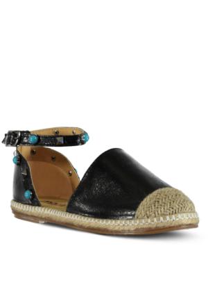 Marjin Saliga Espadril Ayakkabı Siyah