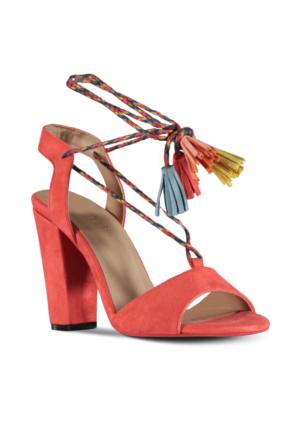 Marjin Lore Topuklu Ayakkabı Nar Çiçeği
