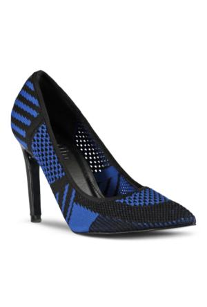 Marjin Argo Topuklu Ayakkabı Sax Mavi