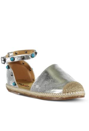 Marjin Saliga Espadril Ayakkabı Gümüş