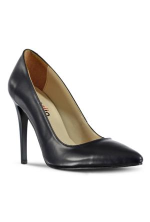 Marjin Zela Topuklu Ayakkabı Lacivert