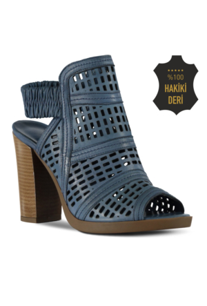 Marjin Gisa Topuklu Deri Ayakkabı Mavi