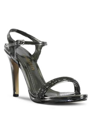 Marjin İcil Topuklu Abiye Ayakkabı Vizon