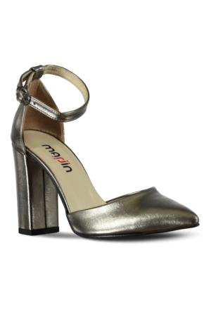 Marjin Elas Topuklu Ayakkabı Gümüş