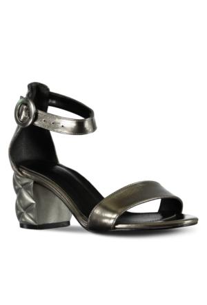 Marjin Pİrite Topuklu Ayakkabı Vizon