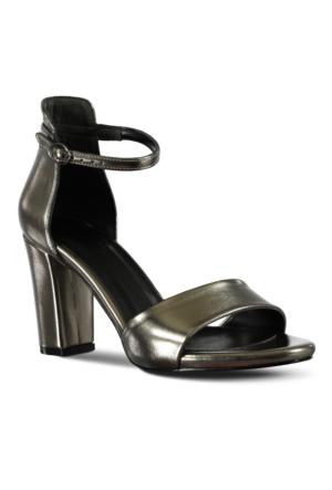 Marjin Zarin Topuklu Ayakkabı Gümüş