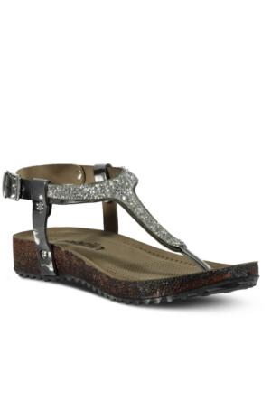 Marjin Malas Düz Sandalet Gümüş