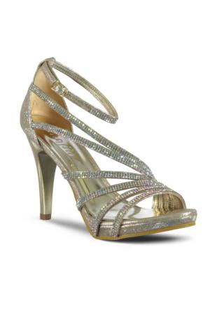 Marjin Riko Abiye Ayakkabı Altın