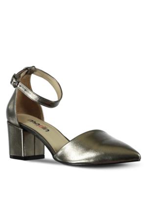 Marjin Nuge Topuklu Ayakkabıı Gümüş