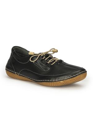 Polaris 71.109666.Z Siyah Kadın Deri Ayakkabı