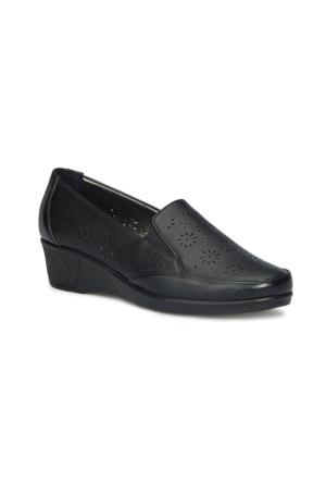 Polaris 71.157298.Z Siyah Kadın Dolgu Topuk Ayakkabı
