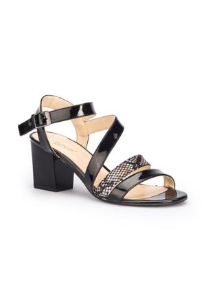 Polaris 71.309867.Z Siyah Kadın Sandalet