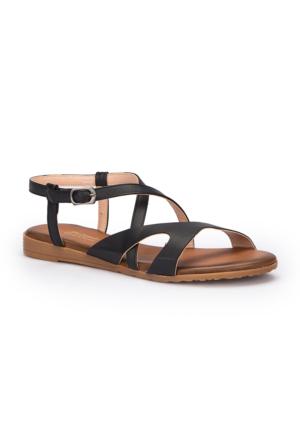 Polaris 71.310140.Z Siyah Kadın Sandalet