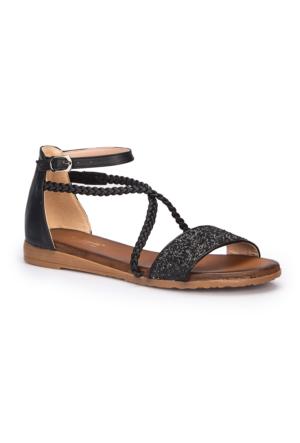 Polaris 71.310150.Z Siyah Kadın Sandalet
