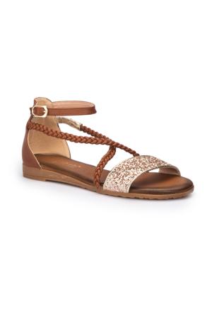 Polaris 71.310150.Z Taba Kadın Sandalet
