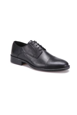 Garamond 4665 M 1602 Siyah Erkek Deri Klasik Ayakkabı