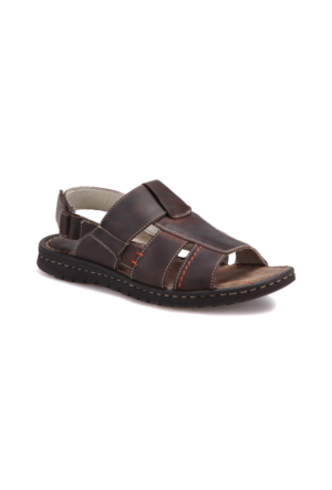 Freemood K021-902 M 4033 Kahverengi Erkek Deri Sandalet