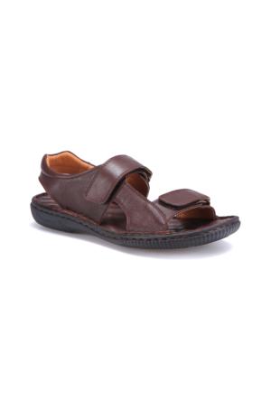 Flogart CK-17 M 1405 Kahverengi Erkek Deri Sandalet