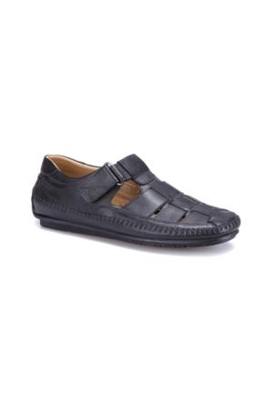 Flogart G-82 M 1455 Siyah Erkek Deri Klasik Ayakkabı