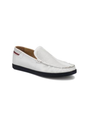 Flogart KL-167 M 1506 Beyaz Erkek Deri Ayakkabı