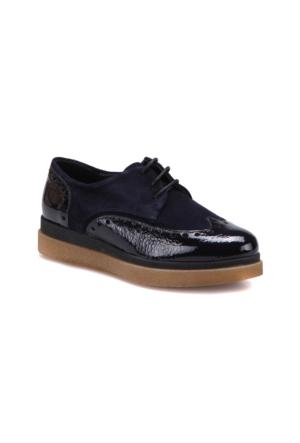 Butigo A10 Lacivert Kadın Deri Ayakkabı