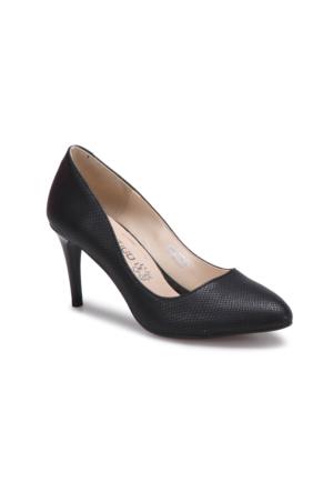 Butigo S806-Y Siyah Yılan Rengi Kadın Gova Ayakkabı