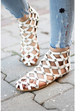 İnce Topuk Troklu Bilekten Sandalet