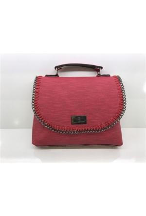 Çanta Stilim Model 2860 Kırmızı Renk El ve Çapraz Bayan Çantası