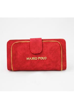 Makko Polo Fermuarlı Kırmızı Cüzdan