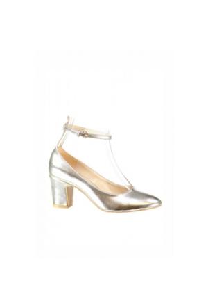 Elle Ada Kadın Ayakkabi Altın