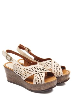 Gön Deri Kadın Sandalet 45516