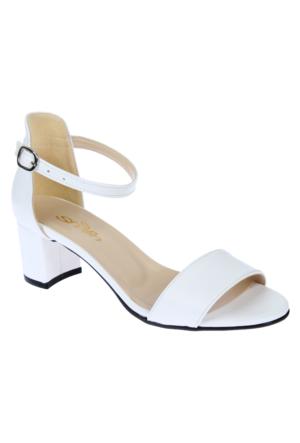 Shalin Alçak Ökçe Kadın Ayakkabı - Bşk 1026 - Beyaz