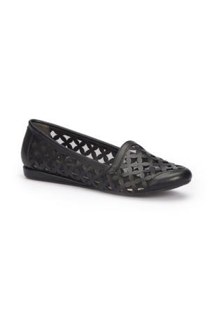 Polaris 71.309733.Z Siyah Kadın Loafer Ayakkabı
