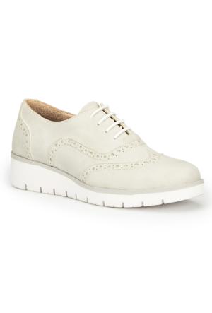 Polaris 71.109776.Z Gri Kadın Dolgu Topuk Ayakkabı