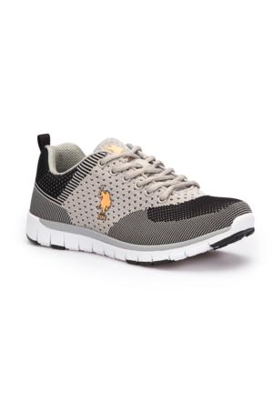 U.S. Polo Assn. Teadora Gri Kadın Sneaker Ayakkabı