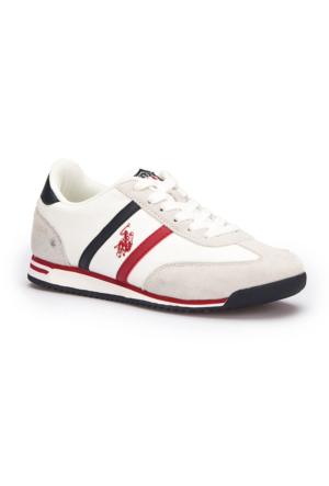 U.S. Polo Assn. Luton Beyaz Kadın Sneaker Ayakkabı