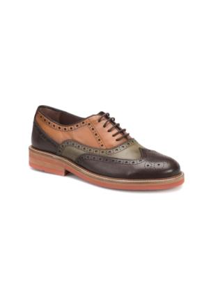 Cordovan 5954 M 1506 Kahverengi Haki Taba Erkek Deri Modern Ayakkabı